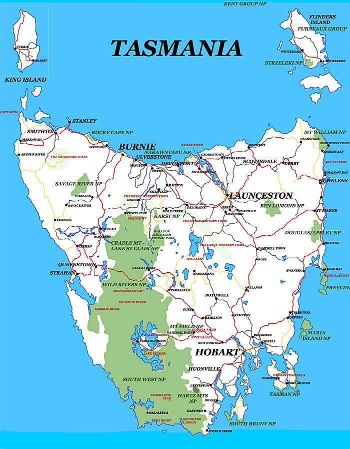 О тасмания где находится